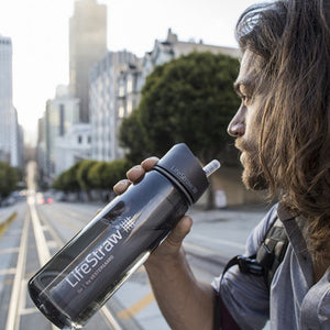 Lifestraw | Go Water Bottle | Gray