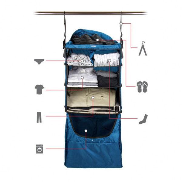 Shelfpack Suitcase with built-in shelves
