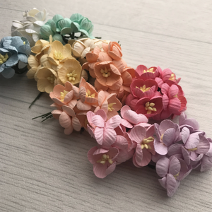 Mulberry Paper Flowers Cherry Blossom