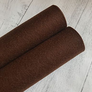 Chocolate Brown 100% Merino Wool Felt