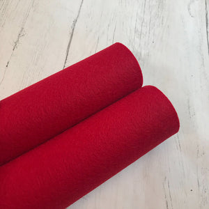 Cranberry Red 100% Merino Wool Felt