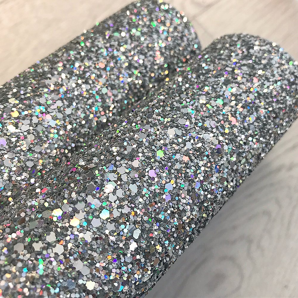 Sing a Rainbow Hologram Silver Chunky Glitter