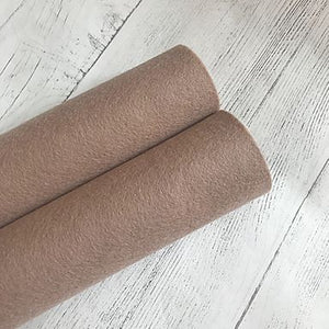 Fawn Brown 100% Merino Wool Felt