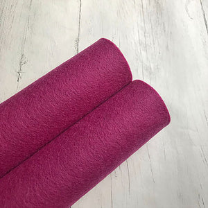 Grape 100% Merino Wool Felt