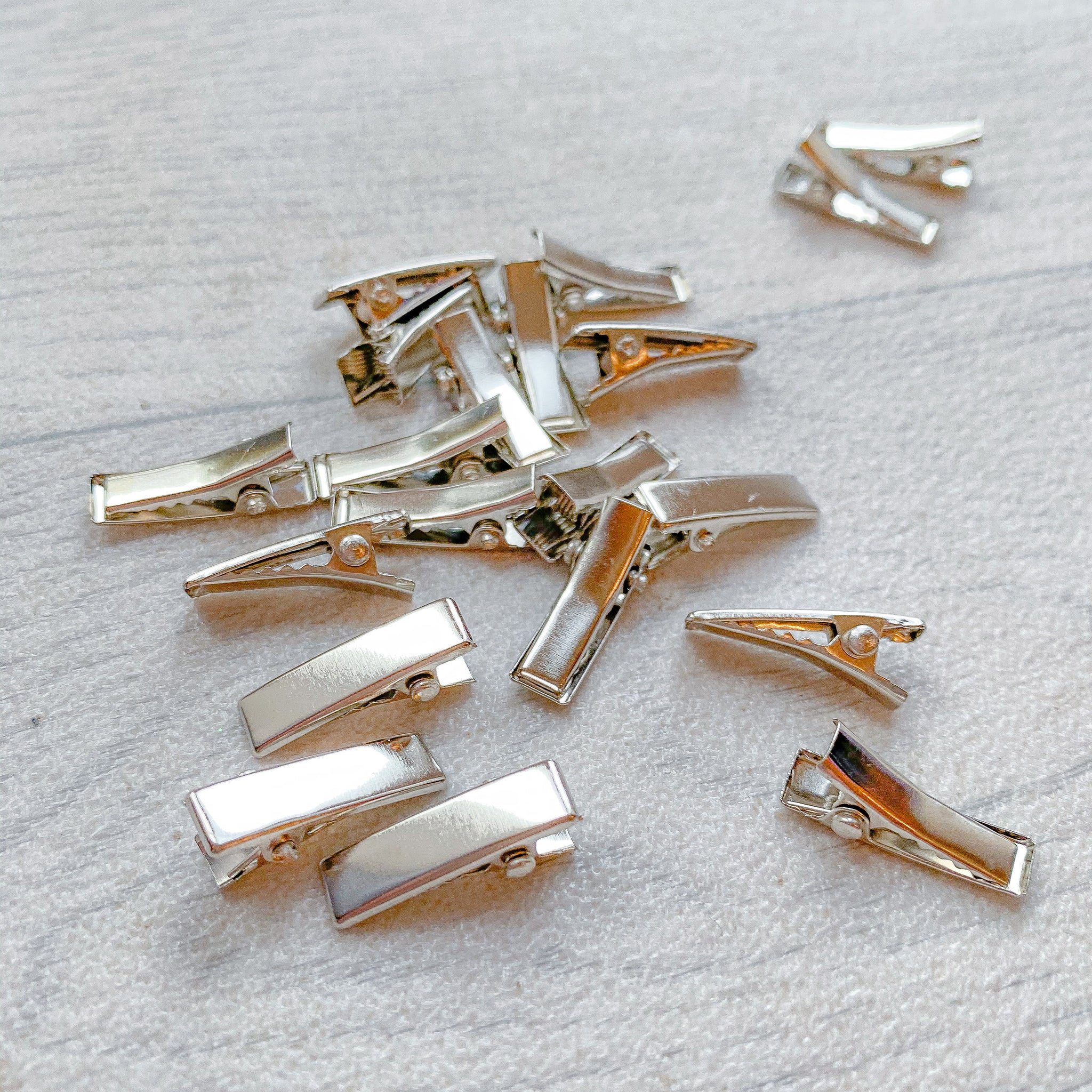 Silver Flat Alligator Clips 20 mm