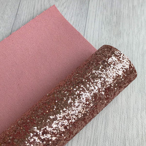 Rose gold chunky glitter fabric A4 sheet bow crafts