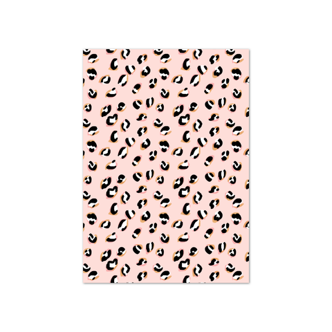 Blush Leopard Bow Display Cards