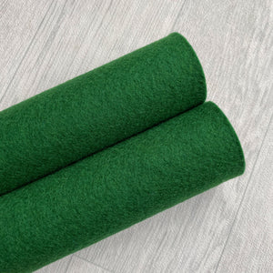 Bottle Green 100% Merino Wool Felt