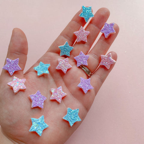 Tiny Glitter Felt Star Embellishment
