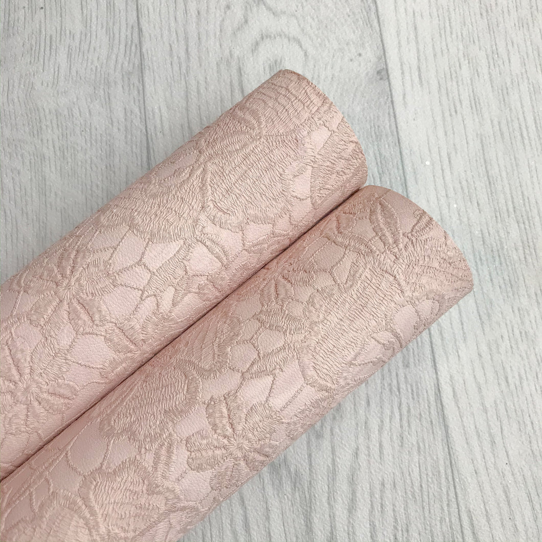 Embroidery Lace Pale Pink