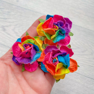 Rainbow Country Rose Mulberry Flowers 50mm (5)