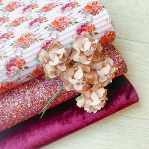 Dusky Pink & Stripes Floral Bundle