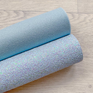 Duck Egg Blue Felt & Glitter Duo