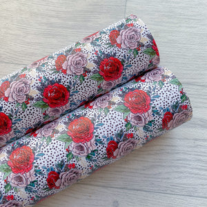 Christmas Floral Leatherette