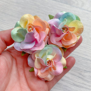 Deluxe Unicorn Wonderlust Rose Mulberry Flowers 50mm (5)