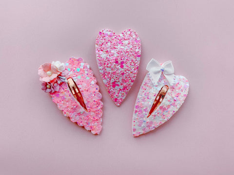 Heart Snap Clip Die Glitter Glitter On The Wall Exclusive