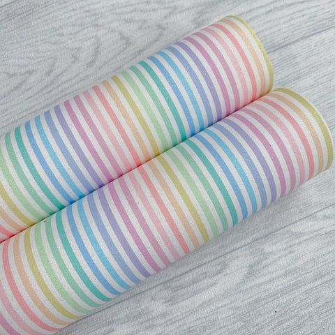 Rainbow Stripes Glitter Suede