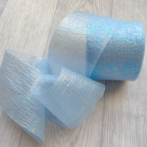 Blue Fairy Silk Tulle 6cm