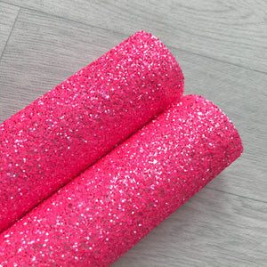 Neon Pink Chunky Glitter