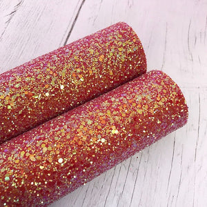 Iridescent Red Chunky Glitter