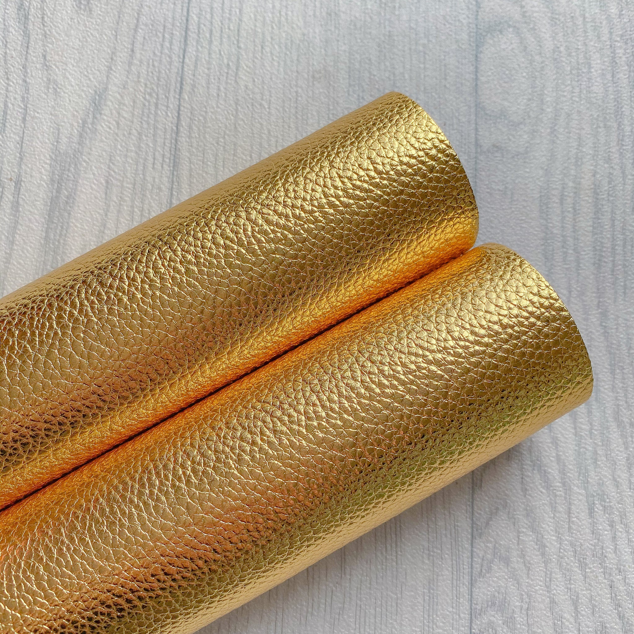 Metallic Golden Faux Leather