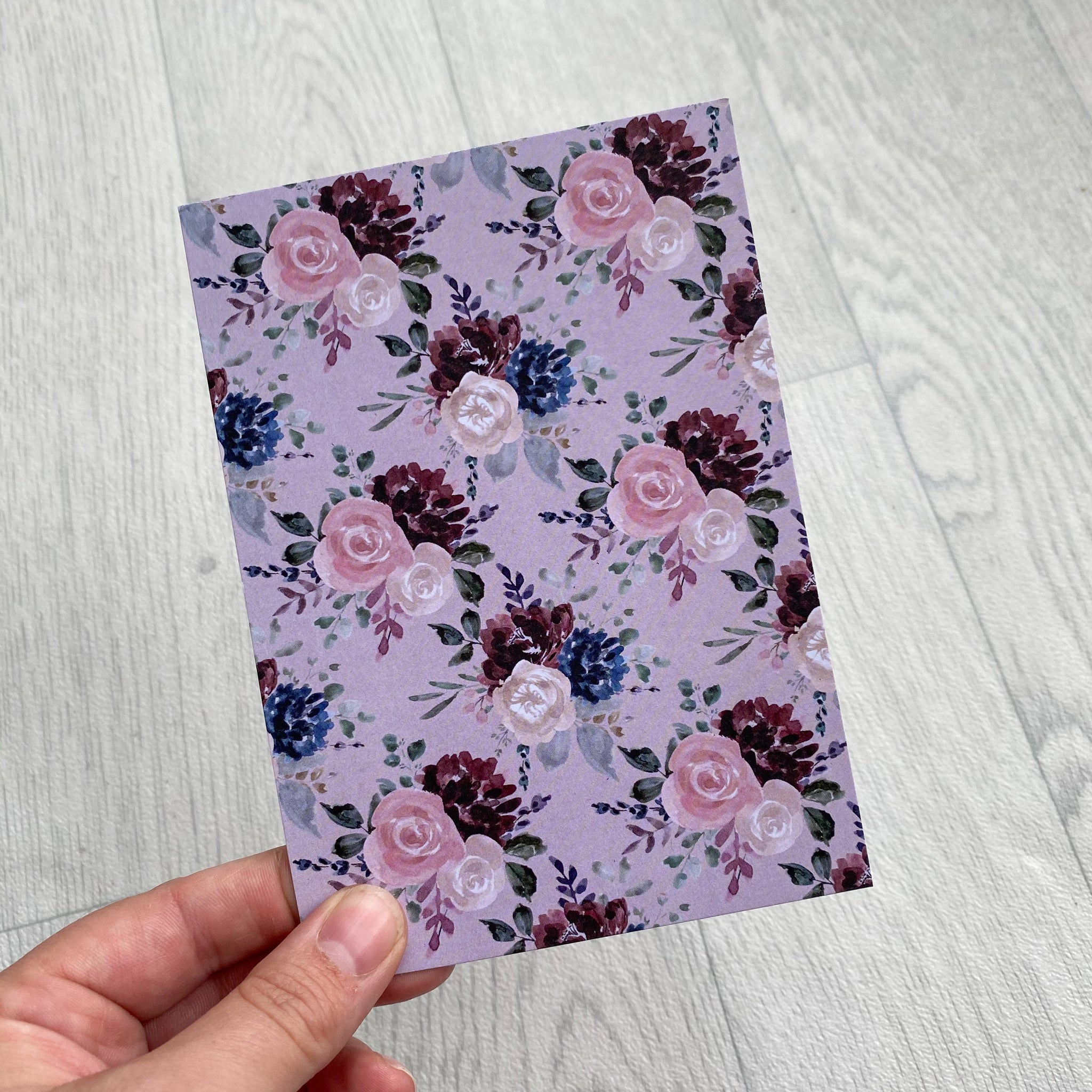 Mauve and Dusky Pink Floral Bow Display Cards