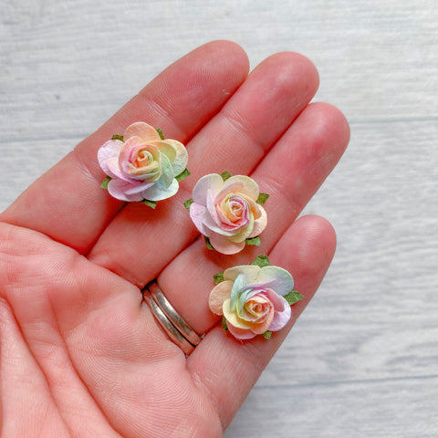 Unicorn Open Rose Mulberry Flowers 15mm Special Edition (10)