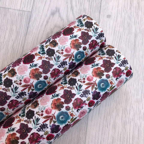 Blooming Autumn Florals Leatherette