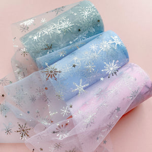 Silver Snowflake Tulle 12cm