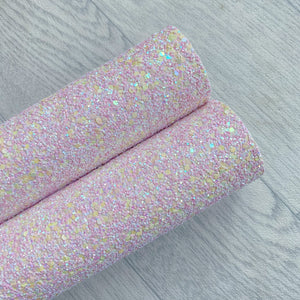 pale pink chunky glitter fabric sheet A4 Bow Craft