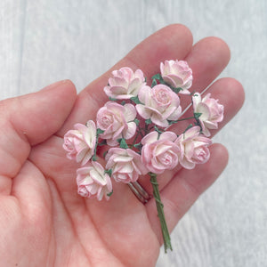 Mulberry Paper Flowers Pink Ombre Open Roses