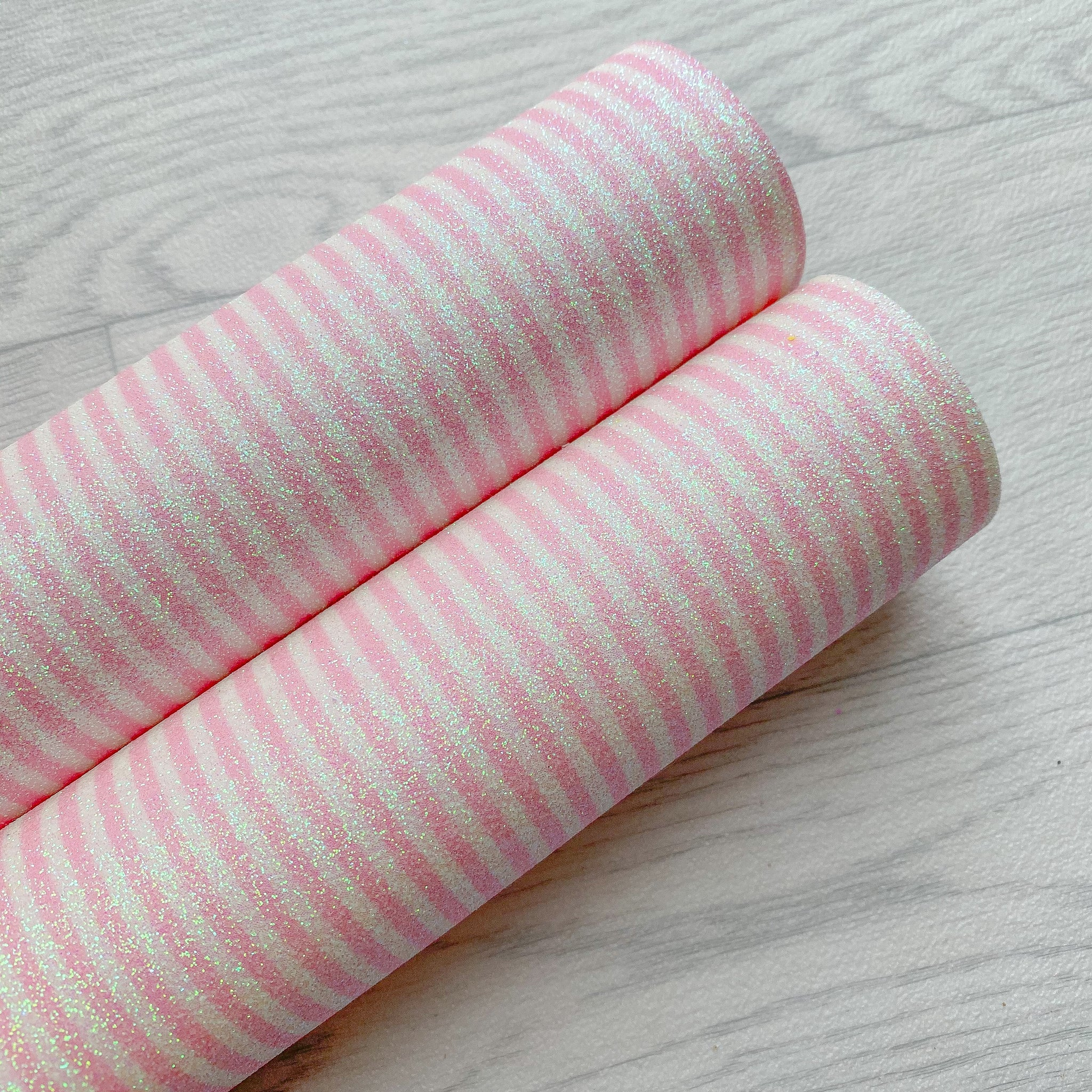 Pink Candy Stripes Fine Glitter