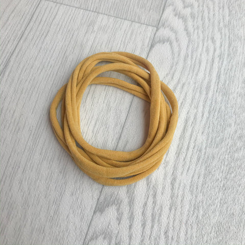 Darling Nylon Headbands Mustard