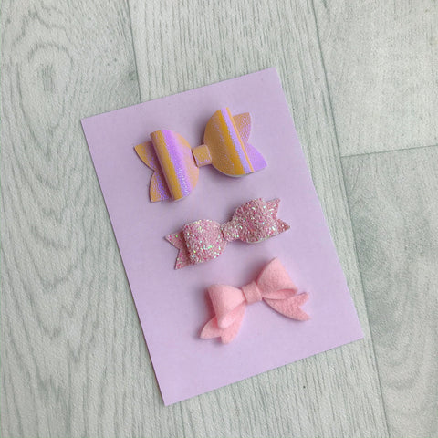 Pale Pinky Lilac Bow Display Cards