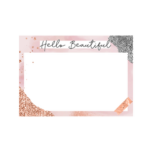 Hello Beautiful Nylon Headband  Bow Display Cards
