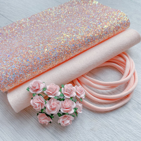Swan Princess Glitter, Felt, Nylon Headband & Mulberry Rose Bundle