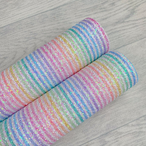 Rainbow Candy Stripes Chunky Glitter