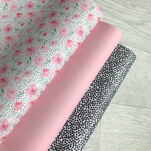 Going Dotty Floral Leatherette Bundle
