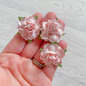 Blush Modern Rose Mulberry Flowers 25mm (10)