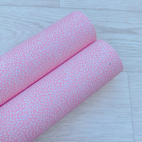 Pale Pink Polka Dot Leatherette
