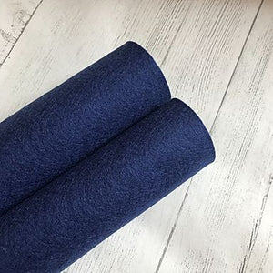 Navy Blue 100% Merino Wool Felt