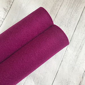 Plum Purple 100% Merino Wool Felt