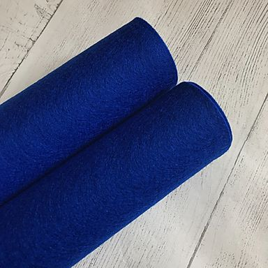 Royal Blue 100% Merino Wool Felt