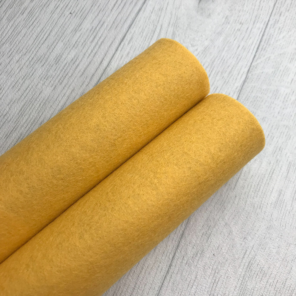 Sunset Orange 100% Merino Wool Felt