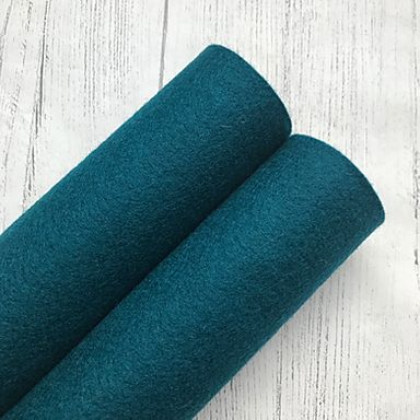 Teal Blue 100% Merino Wool Felt