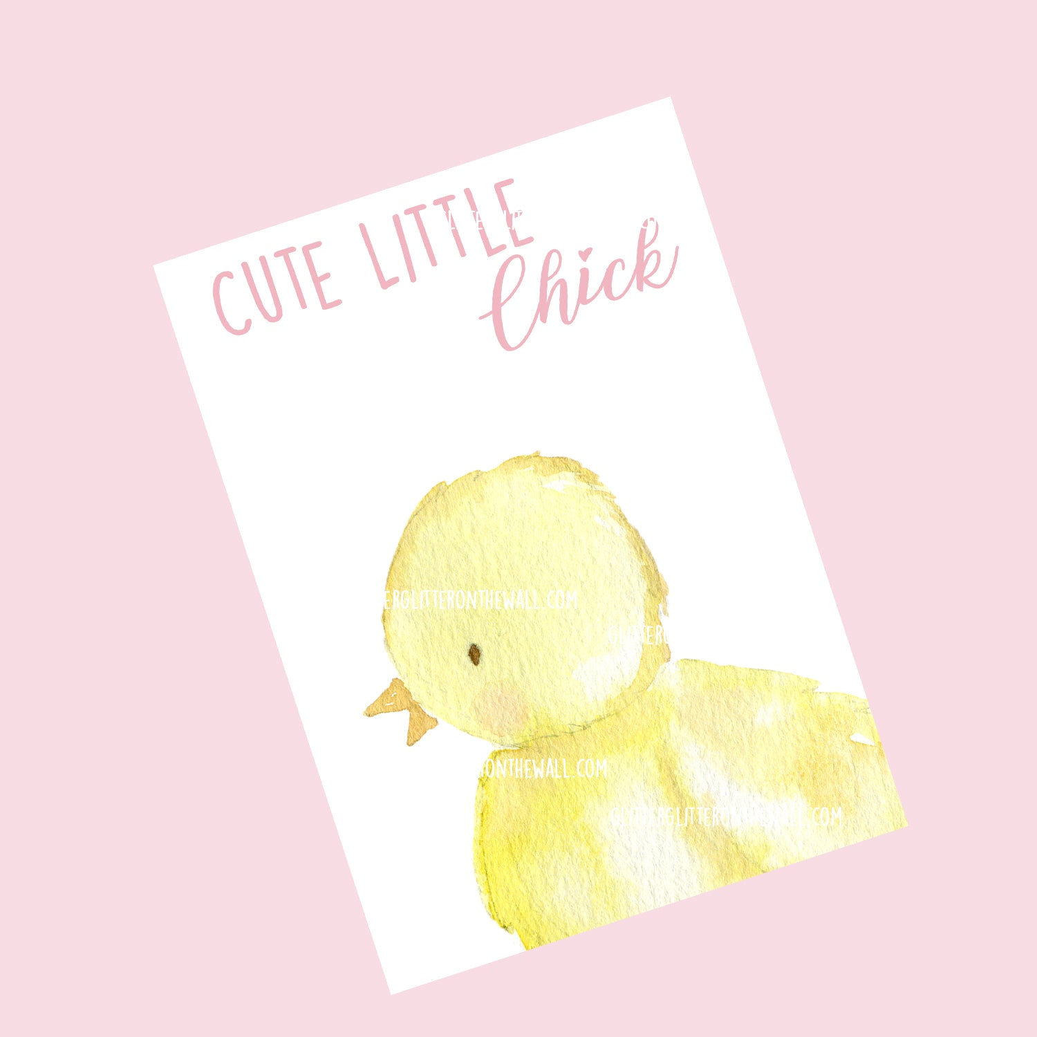 Cute Little Chick Bow Display Cards