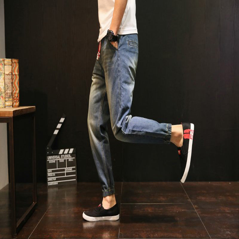 Stretch Elastic Waist Jeans
