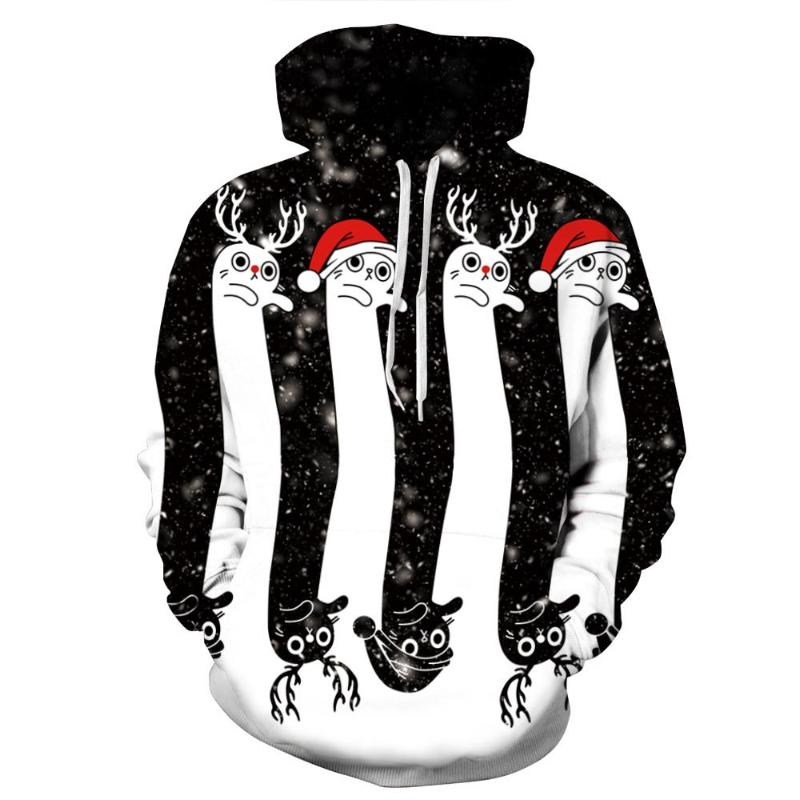 3D Christmas Theme Hoodies