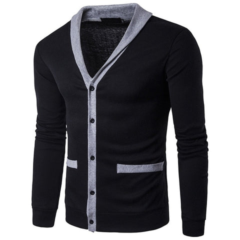 High Quality V-Neck Splice Thin