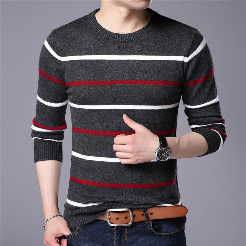 Sweater Men Casual Striped